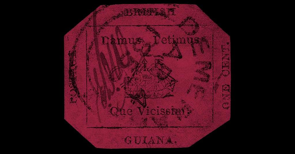 british guiana one cent magenta stamp
