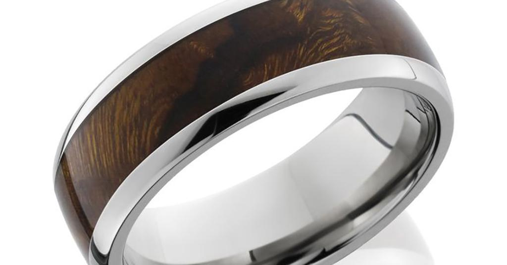 jewellery titanium ring wood